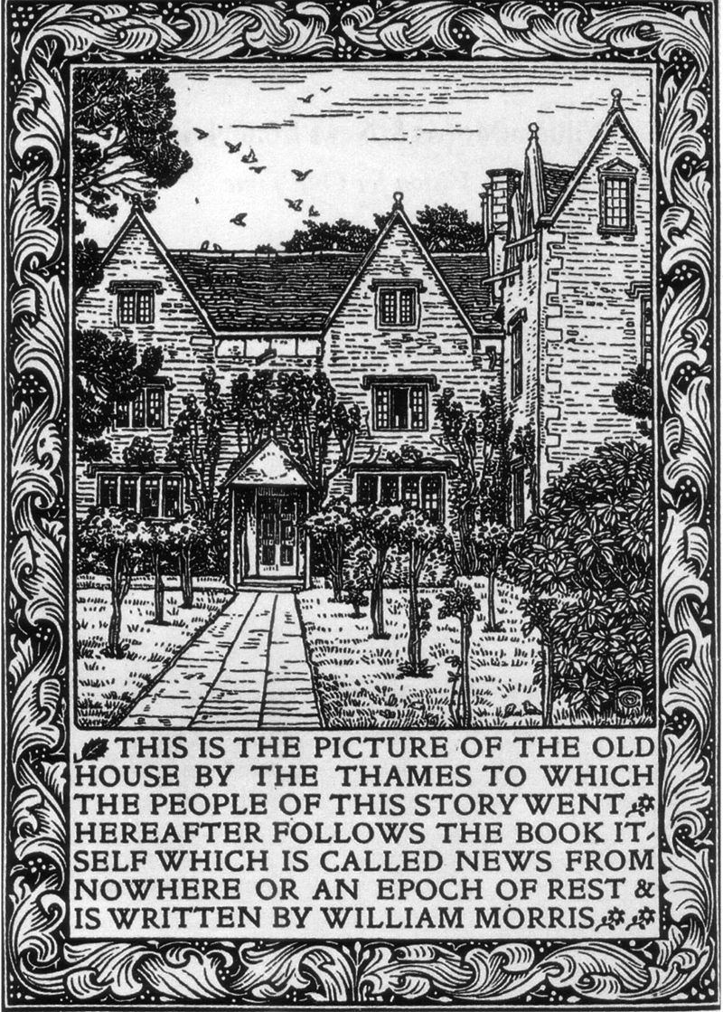 frontispiece of Morris' utopia